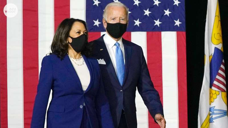 a man wearing a suit and tie: Presumptive Democratic nominee Joe Biden picked Sen. Kamala Harris as his running mate after defeating her in the primaries.