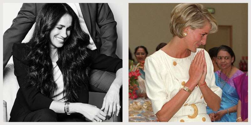 style fans think meghan markle wore princess diana s carter watch in stunning new portrait with harry pressfrom us fans think meghan markle wore princess