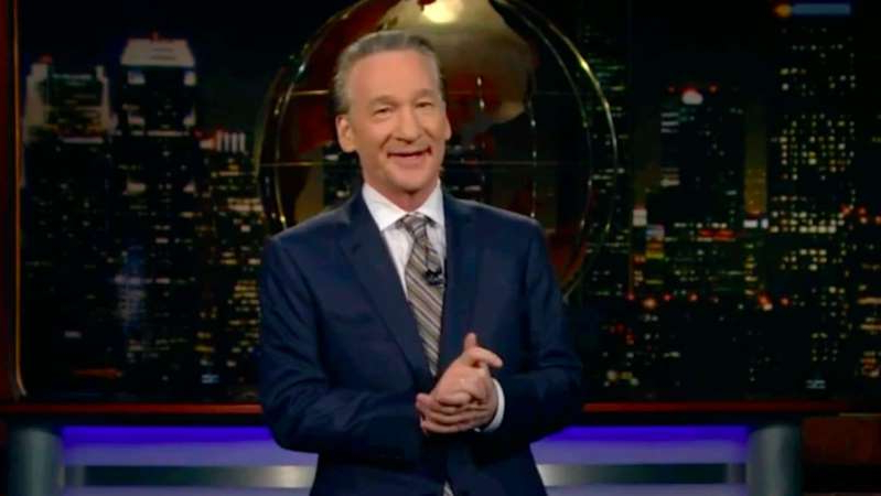 Bill Maher wearing a suit and tie: HBO