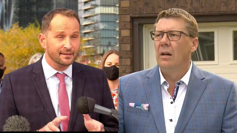 Ryan Meili in a suit standing in front of a building: A new poll released by the Angus Reid Institute shows voters would like to see a party that fits politically between the Saskatchewan Party and the NDP.