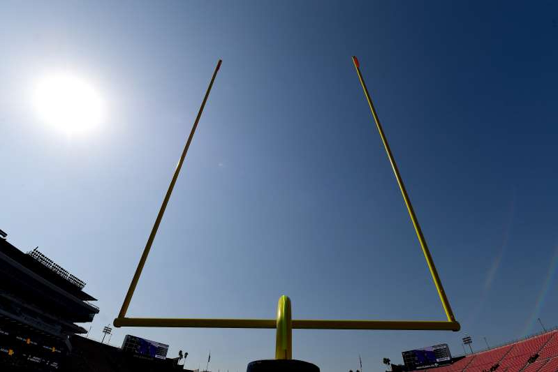 a close up of a light pole: If the Jaguars' kicker makes a field goal on Sunday, it'll be his first field goal ever at any level. (Photo by Jayne Kamin-Oncea/Getty Images)