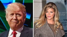 Kirstie Alley, Donald Trump wearing a suit and tie: Kristie Alley says she's voting for Trump 'because he's not a politician'
