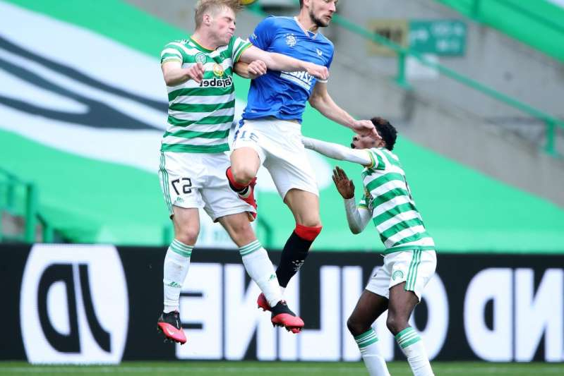 a female football player on a field: Celtic v Rangers - Ladbrokes Scottish Premiership