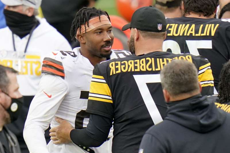 Sport What Did Myles Garrett And Mike Tomlin Talk About Before Browns Steelers Game Pressfrom Us