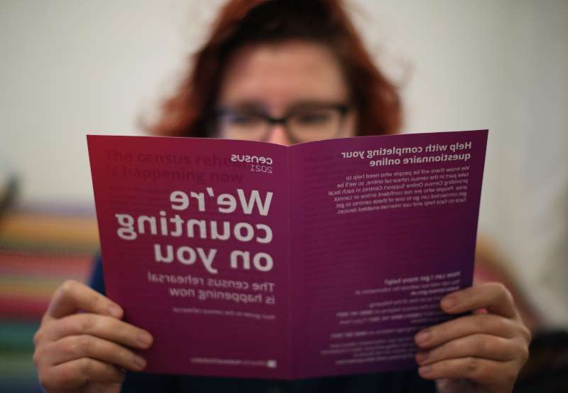 a close up of a person holding a sign: An ONS director has offered some insights into the census (Yui Mok/PA)