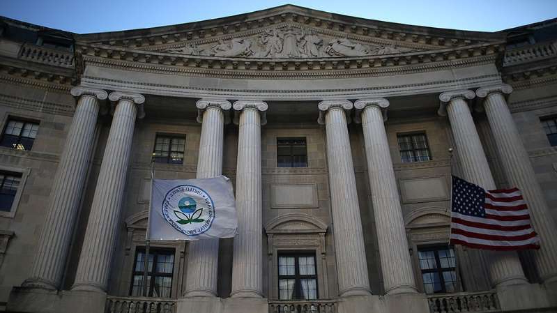 a large white building: EPA reverses course after canceling subscription to news outlet dedicated to covering it