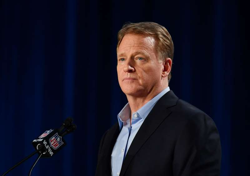 Roger Goodell wearing a suit and tie: NFL commissioner Roger Goodell and the league continue to make contingency plans.
