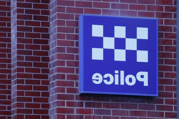 a sign in front of a brick building: A general view of Gisborne Police Station on Thursday, March 26, 2020. Photo by Paul Rovere GENERIC VICTORIA POLICE LOGO SIGN