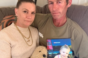 Grieving Gold Coast couple's warning to other parents about lethal button batteries after death of 3yo Brittney