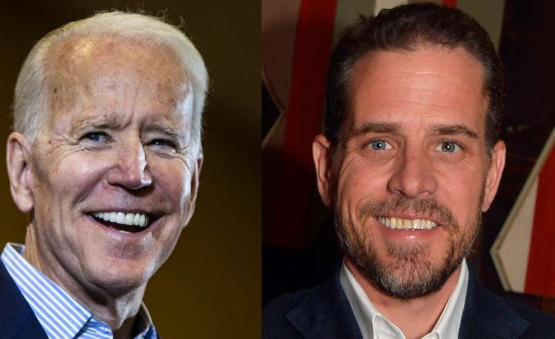 Hunter Biden, Joe Biden are posing for a picture