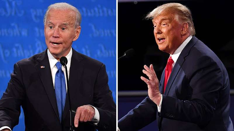 Donald Trump, Joe Biden are posing for a picture: Trump, Biden final arguments at opposite ends on COVID-19