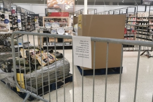 Supermarkets in Wales have cordoned off 'non-essential items' - shoppers are furious