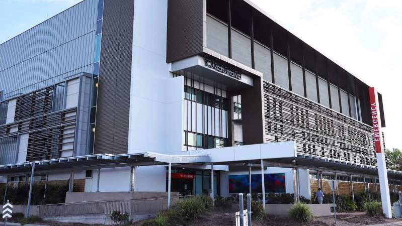 a large building: The man has been airlifted to Townsville University Hospital. (ABC: Tom Edwards)