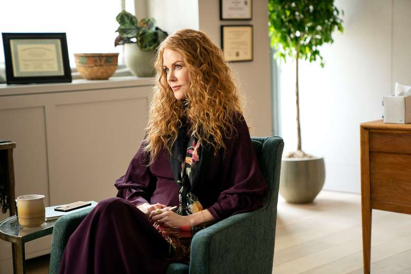 a woman sitting on a table: Nicole Kidman in The Undoing