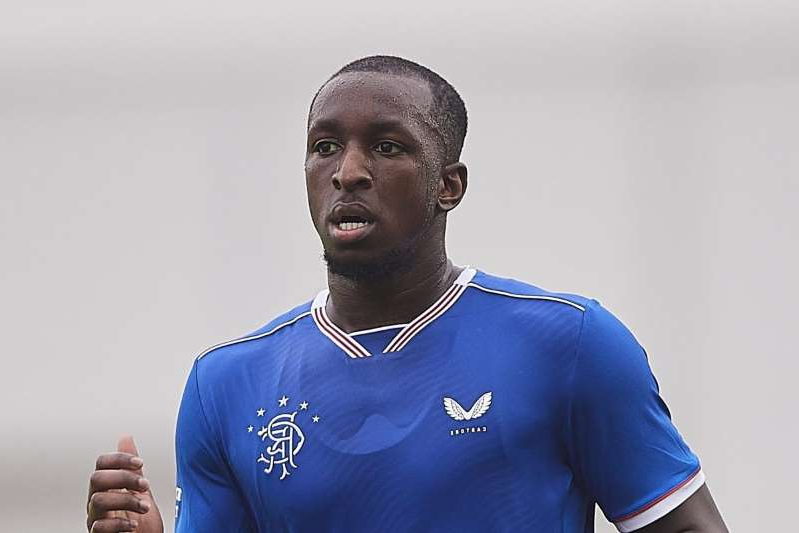 Glen Kamara in a blue shirt: Lincoln Red Imps v Rangers: UEFA Europa League Second Qualifying Round