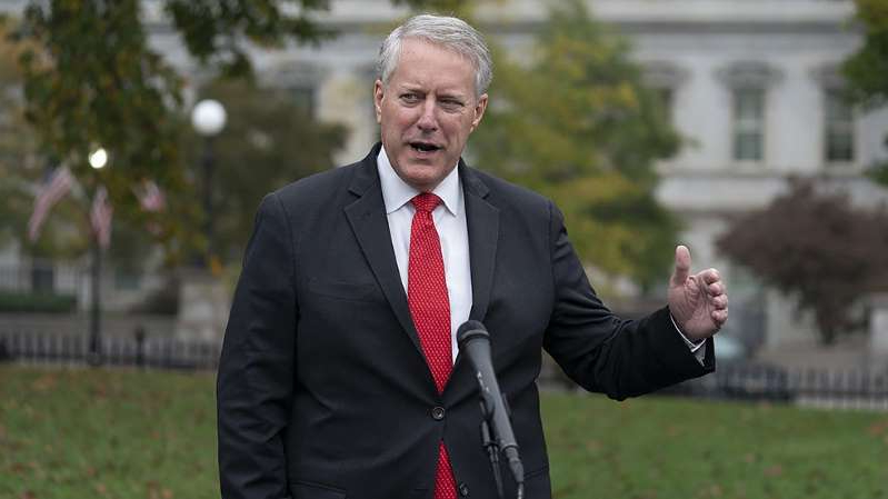 Mark Meadows wearing a suit and tie: Gaffes put spotlight on Meadows at tough time for Trump