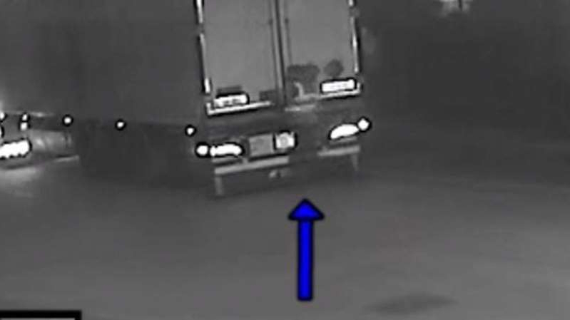 Maurice Robinson was pictured on CCTV opening the back of the trailer slightly