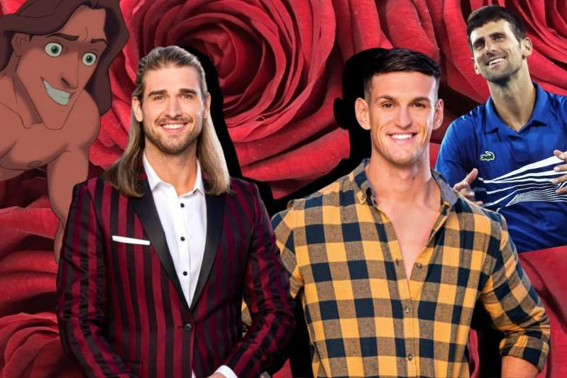 Novak Djokovic et al. posing for the camera: Let us present these wildly uncanny Bachelorette 2020 celebrity lookalikes.