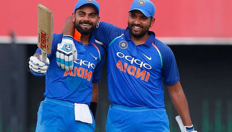 Rohit Sharma, Virat Kohli are posing for a picture: Rohit Sharma with Indian skipper Virat Kohli.