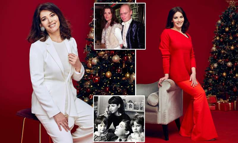 Nigella Lawson, John Diamond, Nigella Lawson, Nigella Lawson posing for a photo: MailOnline logo