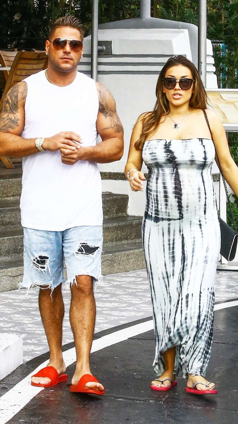Ronnie Ortiz-Magro et al. posing for the camera: VAEM / BACKGRID