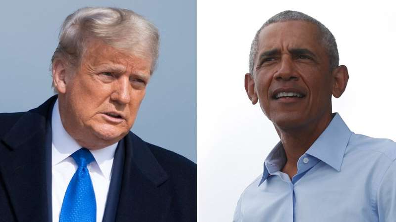 Barack Obama, Donald Trump are posing for a picture: Obama, Trump battle in new wrinkle for 2020 campaign