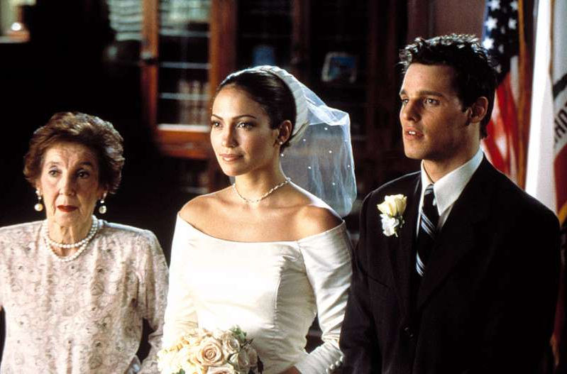 Justin Chambers, Jennifer Lopez, Frances Bay posing for the camera: Columbia Pictures/Everett Collection