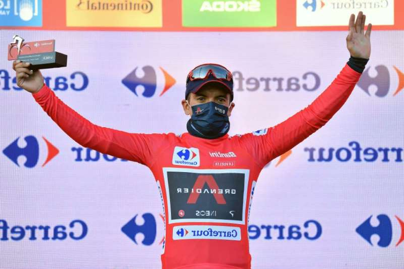 website: Richard Carapaz (Ineos Grenadiers) retained his overall lead at the 2020 Vuelta a España by 13 seconds over stage 8 winner Primož Roglič (Jumbo-Visma)