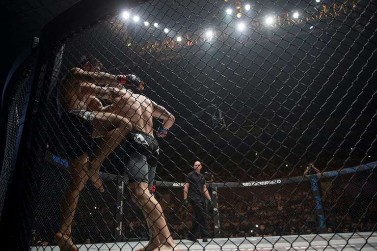 a person in a cage: Up to 250 fans will attend the mixed martial arts card
