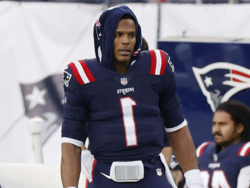 Cam Newton wearing a uniform