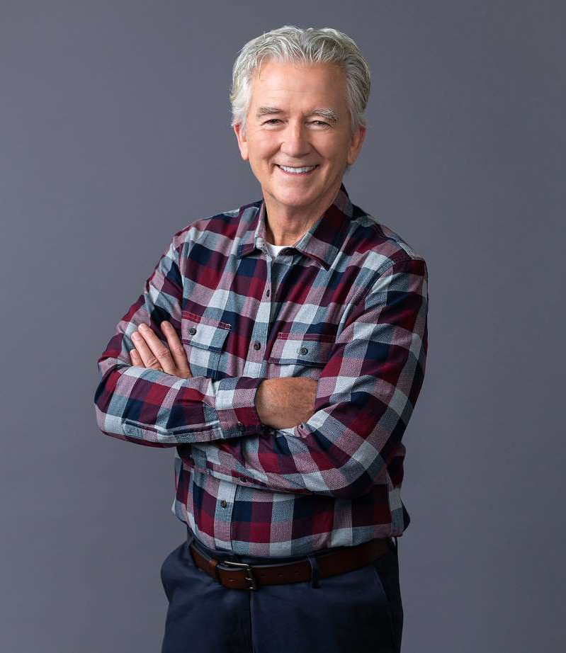 Patrick Duffy in a striped shirt: Michael Okimoto