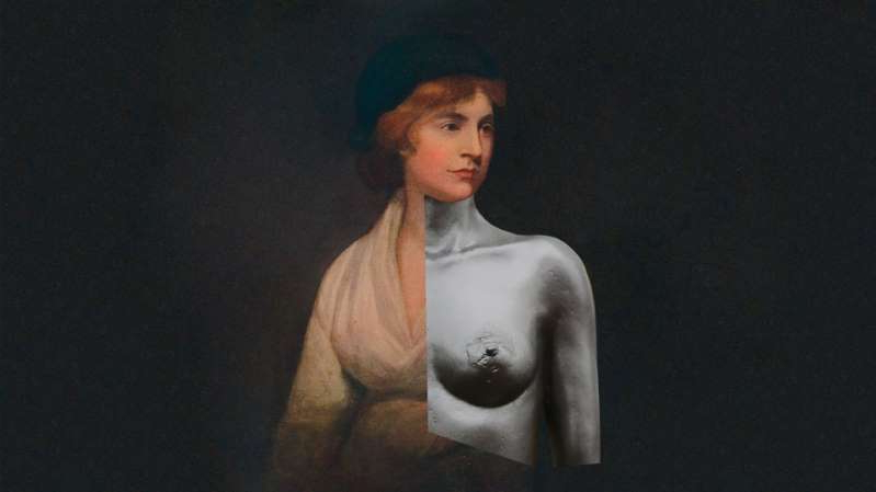 Mary Wollstonecraft looking at the camera