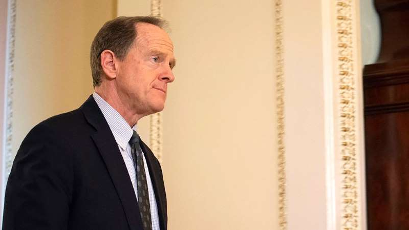 Pat Toomey wearing a suit and tie: GOP senator congratulates Biden, says Trump should accept results