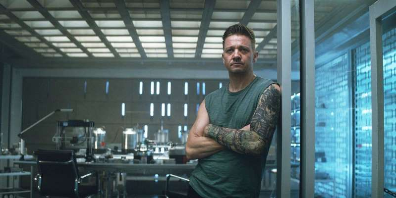 Jeremy Renner standing in front of a window: Marvel's Jeremy Renner seemingly hints at start of Disney Plus Hawkeye TV show filming.