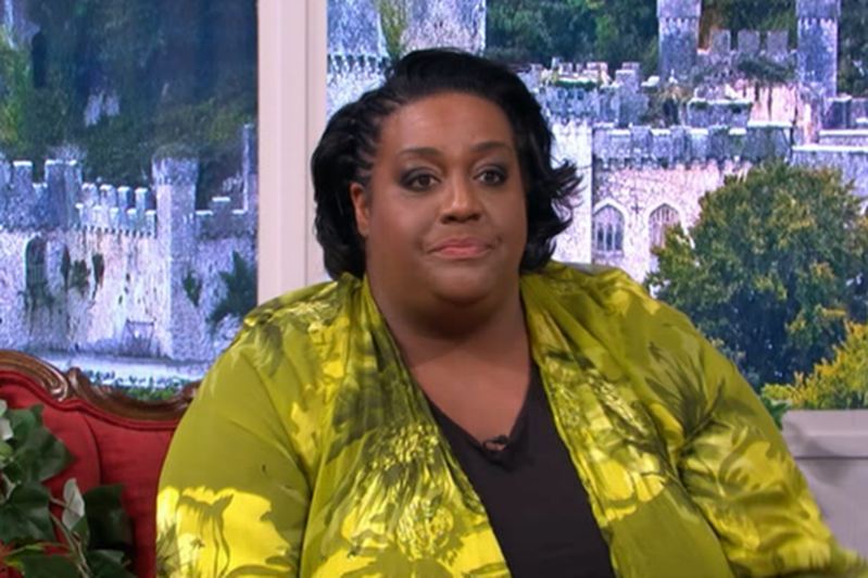 Alison Hammond posing for the camera: Alison Hammond reveals she is pre-diabetic and begs Holly Willoughby and Phillip Schofield for help