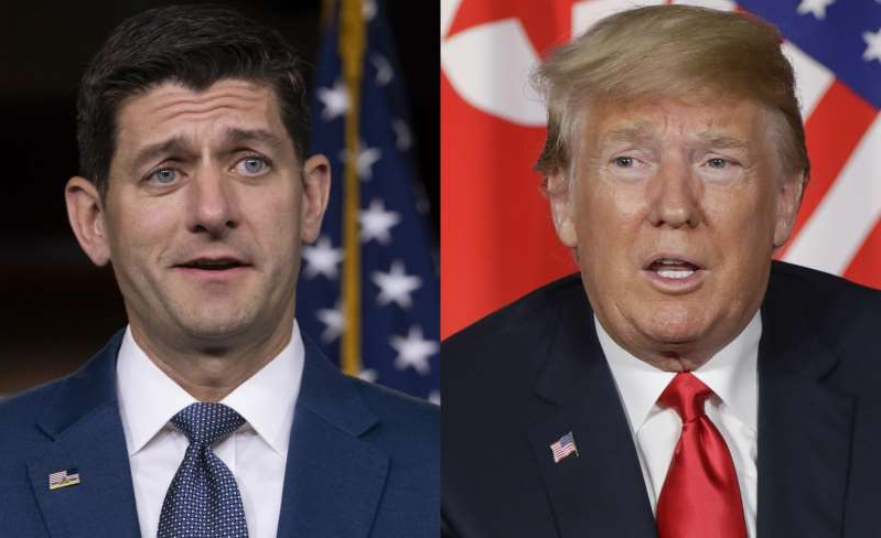 Donald Trump, Paul Ryan are posing for a picture