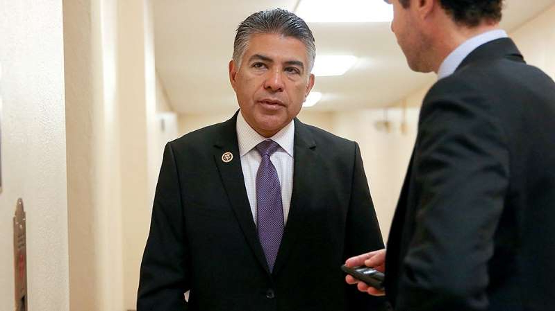 Tony Cárdenas wearing a suit and tie: Democratic Women's Caucus members endorse Cárdenas for party's House campaign chief