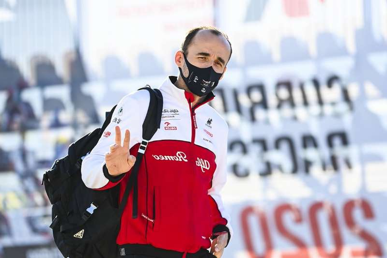 a person wearing sunglasses: Kubica to get latest Alfa FP1 outing at Bahrain GP
