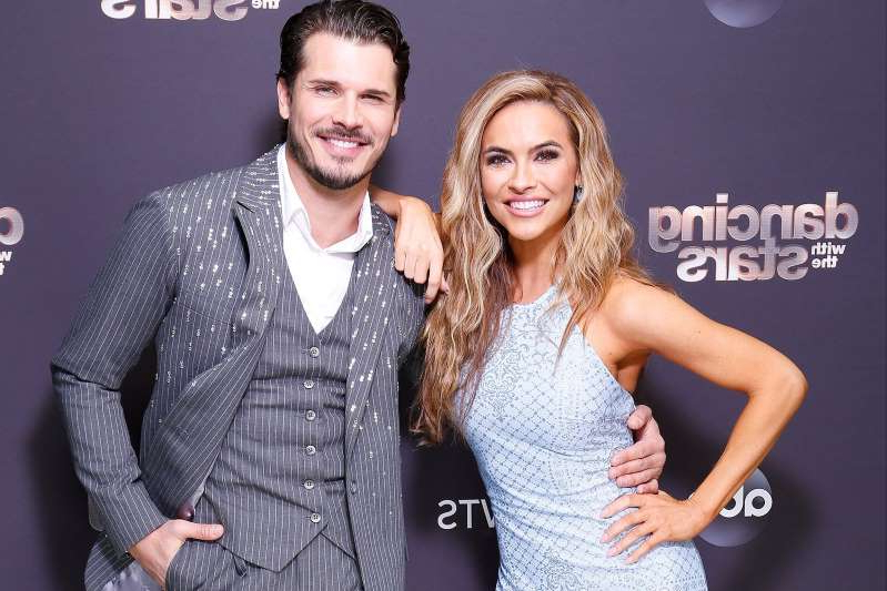 Chrishell Stause, Gleb Savchenko posing for a picture: Kelsey McNeal/ABC Chrishell Stause and Gleb Savchenko