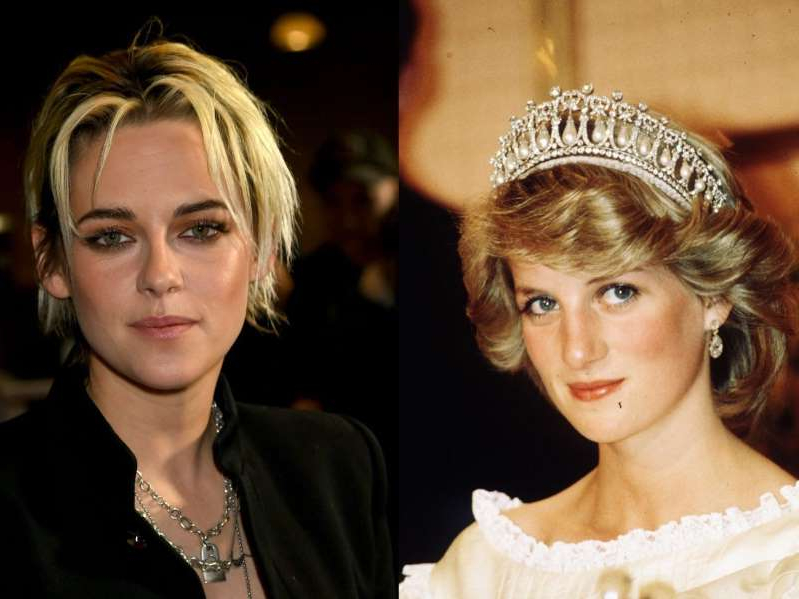 Diana, Princess of Wales, Kristen Stewart posing for the camera: Princess Diana and Kristen Stewart Anwar Hussein /Getty Images Kevin Winter / Getty Images