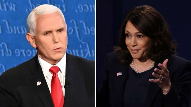 Kamala Harris, Mike Pence wearing a suit and tie: Harris says she has 'not yet' spoken to Pence