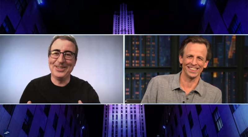Seth Meyers, John Oliver are posing for a picture: John Oliver has revealed how one joke about Adam Driver led to the actor confronting him on 'Last Week Tonight.'