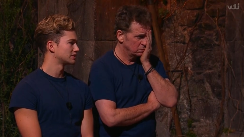 a man standing in front of a building: Shane Richie and AJ Pritchard (ITV screengrab)