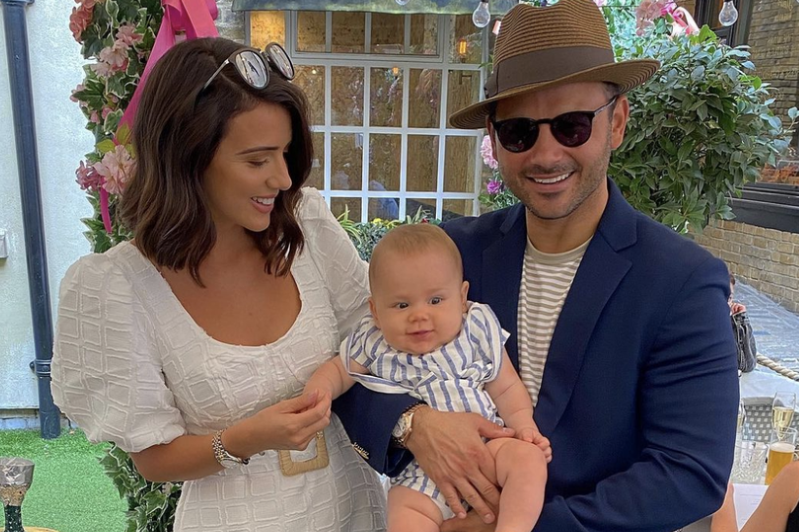 a woman holding a baby: Ryan Thomas has praised his soon-to-be-wife Lucy Mecklenburgh for her incredible body transformation