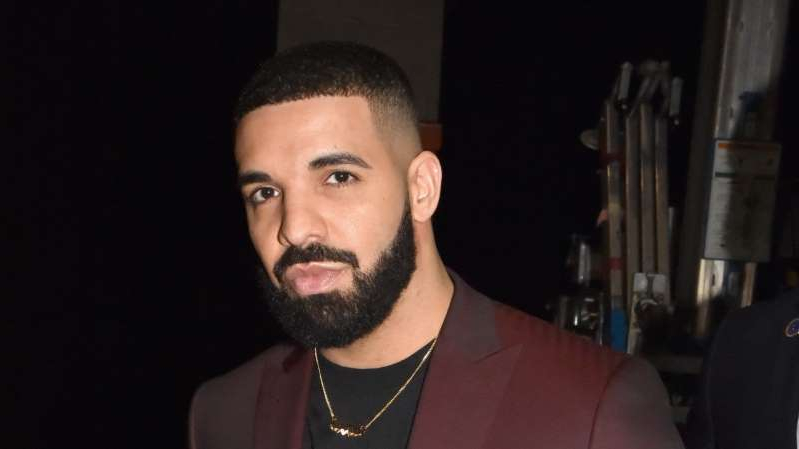 Drake looking at the camera