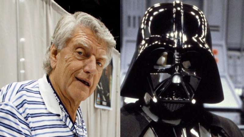 David Prowse wearing a costume: David Prowse portrayed Darth Vader in several Star Wars films. (ABC News/Reuters)
