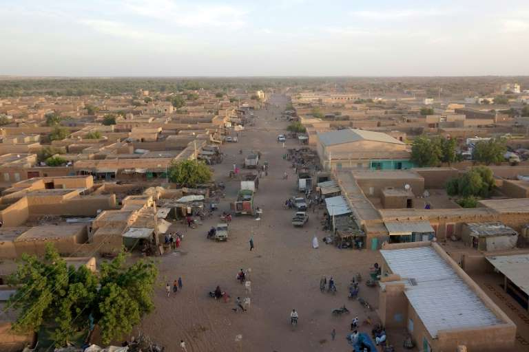 a view of a city: The Malian town of Menaka, where a