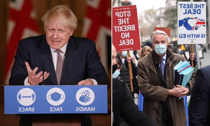 Boris Johnson holding a sign: MailOnline logo