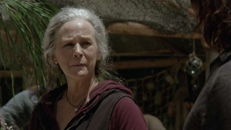 Melissa McBride smiling for the camera: The Walking Dead season 10 return date