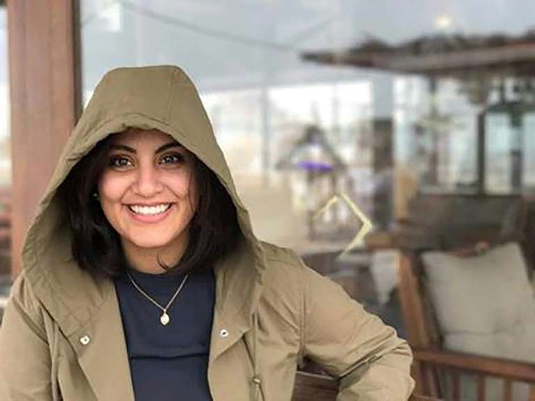 Loujain Alhathloul wearing a hat: The case of jailed Saudi activist Loujain al-Hathloul was in November transferred to the draconian anti-terrorism court